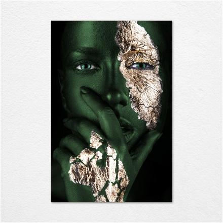 Green Gold Face
