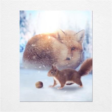 Fox meets Squirrel
