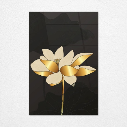 Black and Gold Flower