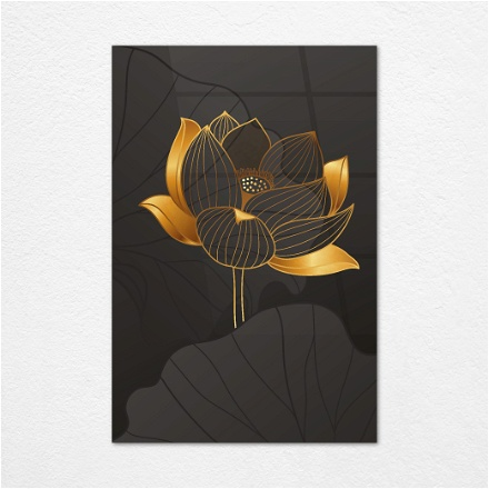 Black and Gold Flower 2