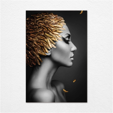 Golden Feathers Woman